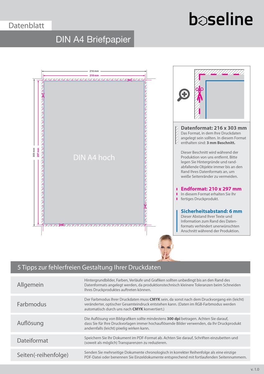 Briefbögen · DIN A4 Briefpapier drucken · OFFSET DRUCK · FARBE · Auflage wählbar
